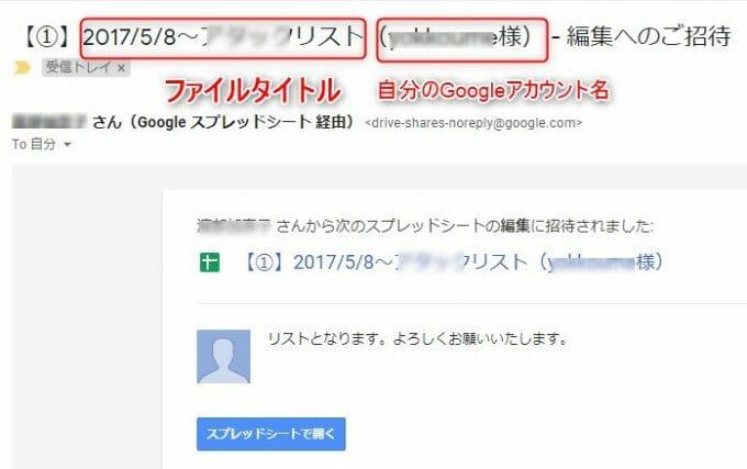 Googleドライブ共有のお知らせメール